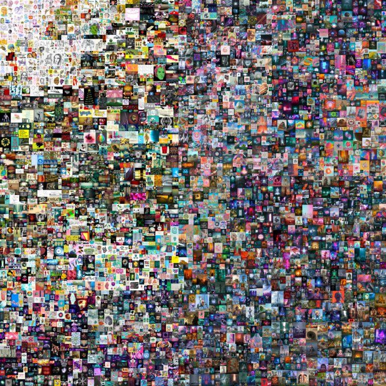 Un acheteur a déboursé plus de 69 millions de dollars pour cette image numérique : il s'agissait de la première vente aux enchères NFT de Christie's.  Photo : Christie's / Beeple